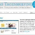 Unser Blog als Surftipp beim Tagesbriefing