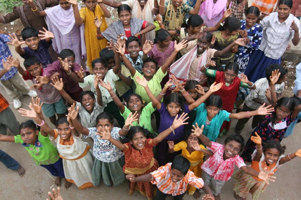 Kinder, die sich freuen