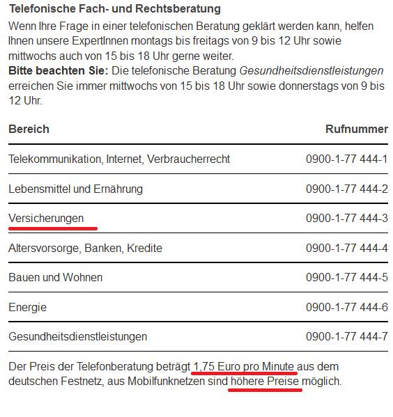 Die telefonische Beratung der Verbraucherzentrale Baden Württemberg. Quelle: verbraucherzentrale-bawue.de