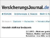 Das Versicherungsjournal berichtet über die Kooperation von Helberg Versicherungsmakler und terre des hommes.