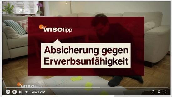 WISO-Tipp Absicherung gegen Erwerbsunfähigkeit. Quelle: zdf.de